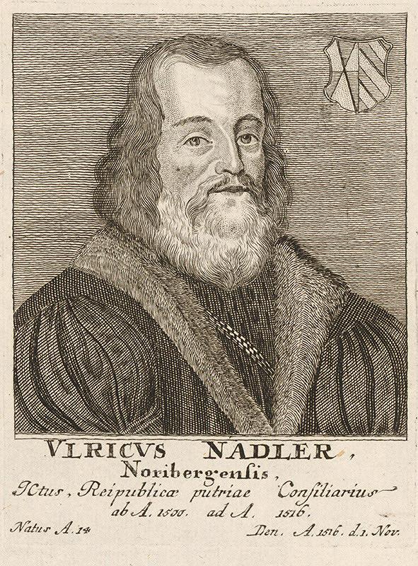 Stredoeurópsky maliar - Portrét V. Nadlera