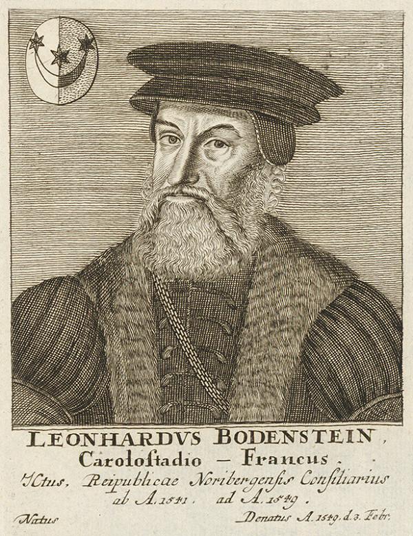 Stredoeurópsky maliar - Portrét Leonharda Bodensteina