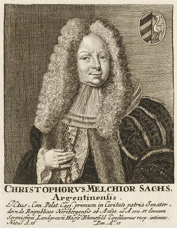 Stredoeurópsky grafik z konca 17. a začiatku 18. storočia – Portrét Christopha Melchiora Sachsa