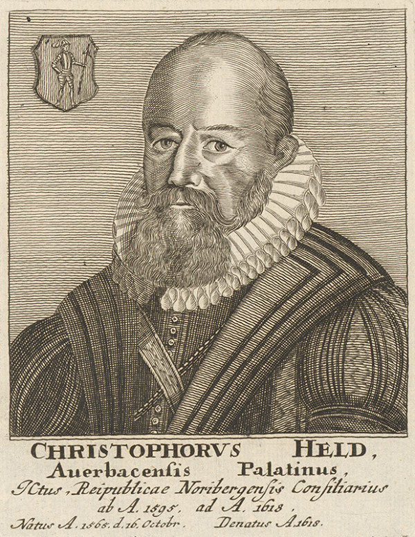 Stredoeurópsky maliar - Portrét Ch. Helda
