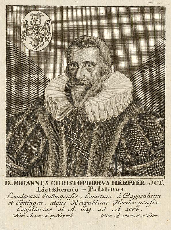 Stredoeurópsky maliar - Portrét D.J.CH.Herpfera