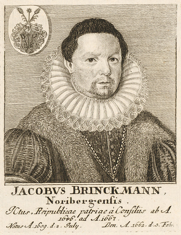 Stredoeurópsky maliar - Portrét J. Brinckmanna