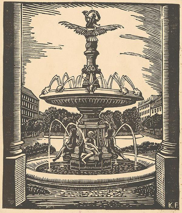 Karol Frech - Ganymedova fontána v Bratislave