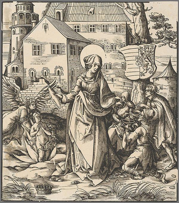 Hans Burgkmair st. - Svätá Alžbeta