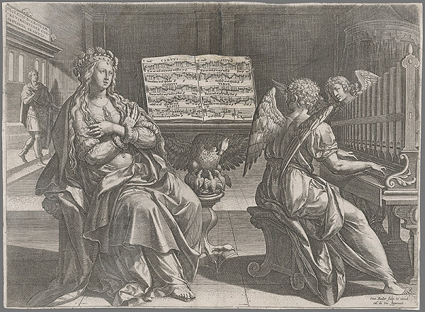 Jan Sadeler I., Maarten de Vos – Svätá Cecília