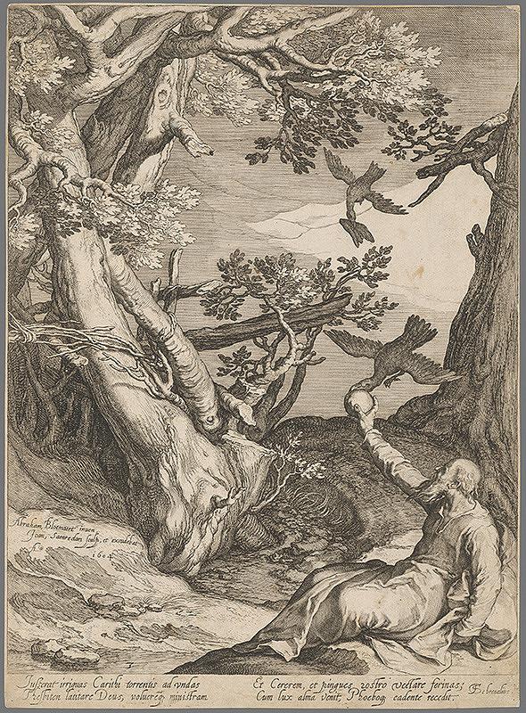 Jan Pietersz Saenredam, Abraham Bloemaert - Prorok Eliáš pri potoku Kerit