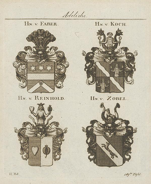 Stredoeurópsky grafik z 18. storočia - Skupina erbov