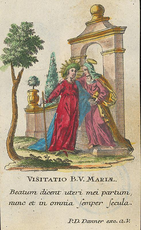 Stredoeurópsky grafik z 19. storočia - Návštívenie Panny Márie
