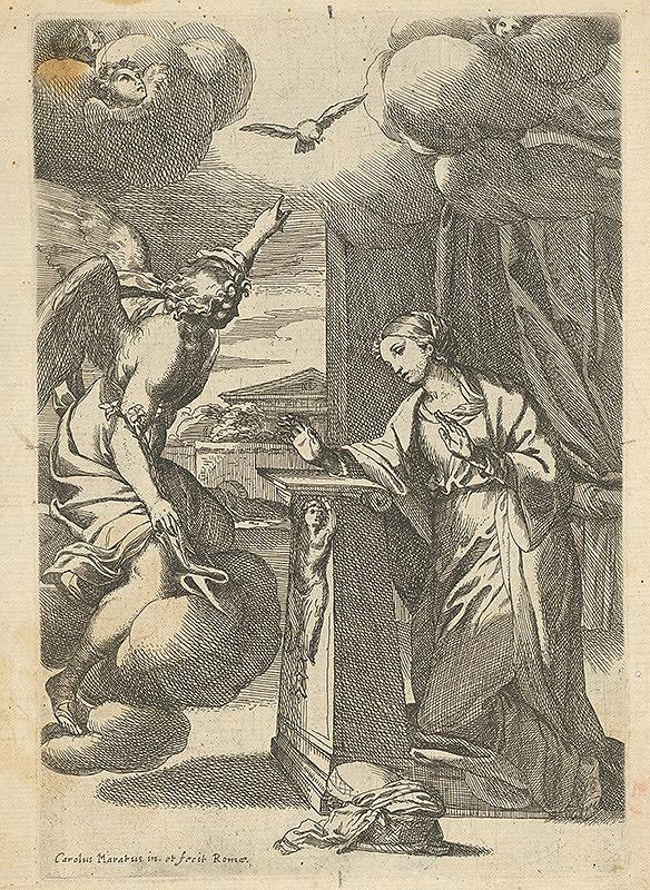 Carlo Maratti - Zvestovanie Panne Márii