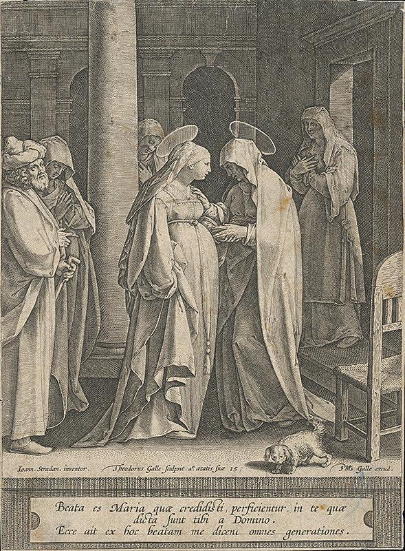 Theodor Galle, Jan van der Straet, Philip Galle - Navštívenie Panny Márie
