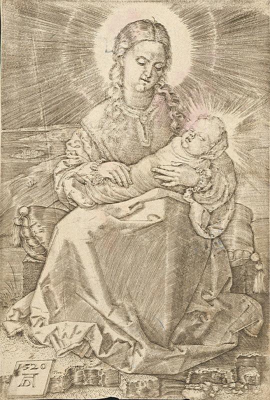 Albrecht Dürer - Mária s dieťaťom zavinutým do plienok