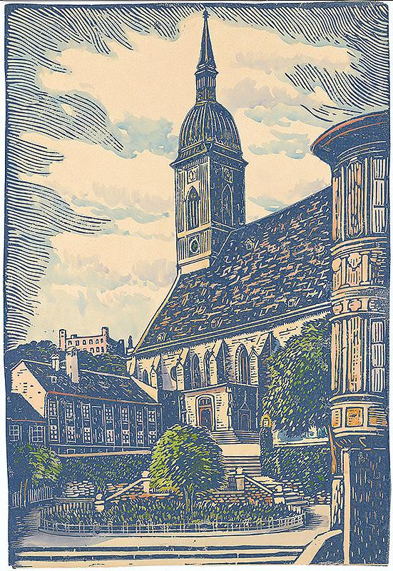 Karol Frech - Rudnayovo nám. v Bratislave