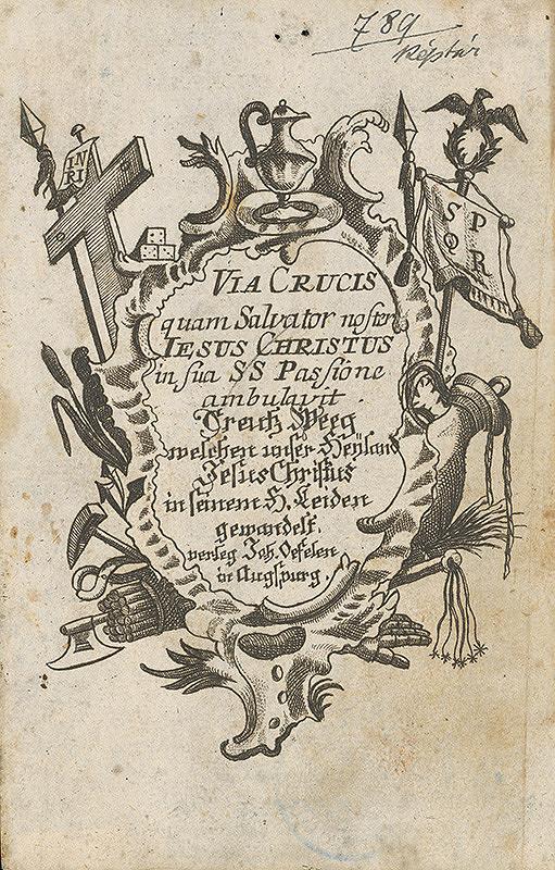 Ignatz Franz Oefele – Titulný list z knihy Via Crucis