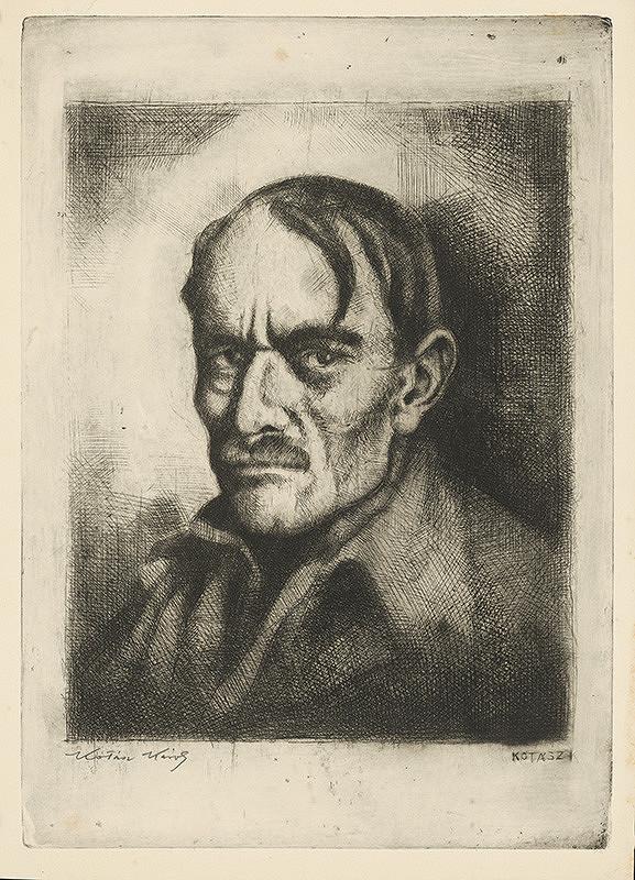 Károly Kotász - Autoportrét