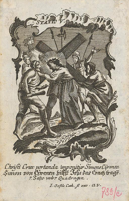 Ignatz Franz Oefele – Via Crucis Statio V.