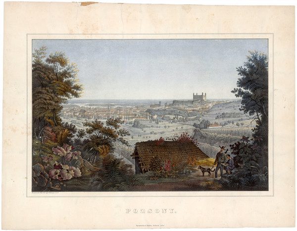 Antal József Strohmayer - Pohľad na Bratislavu zo severozápadu