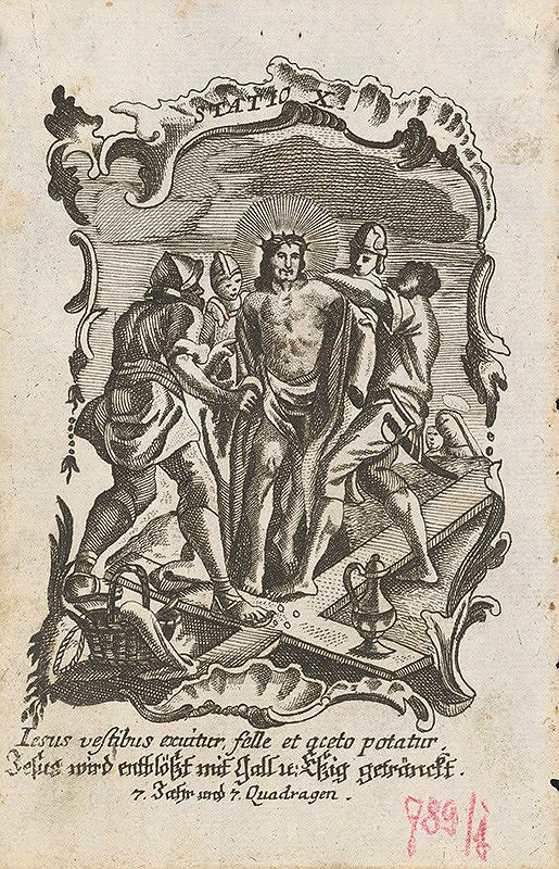 Ignatz Franz Oefele – Via Crucis Statio X.