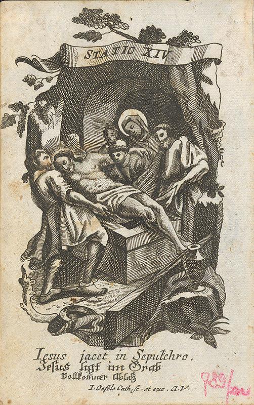 Franz Ignaz Oefele - Kladenie do hrobu