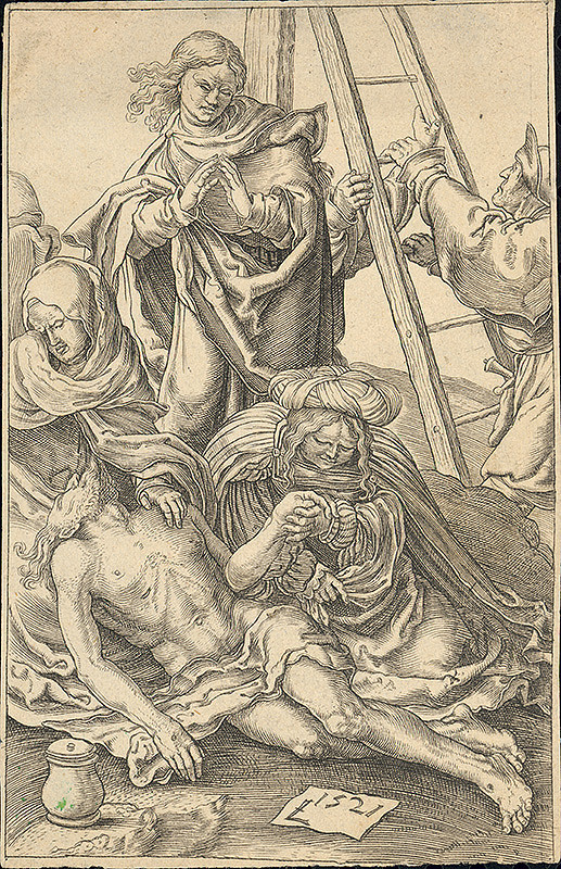 Lucas van Leyden - Snímanie z kríža
