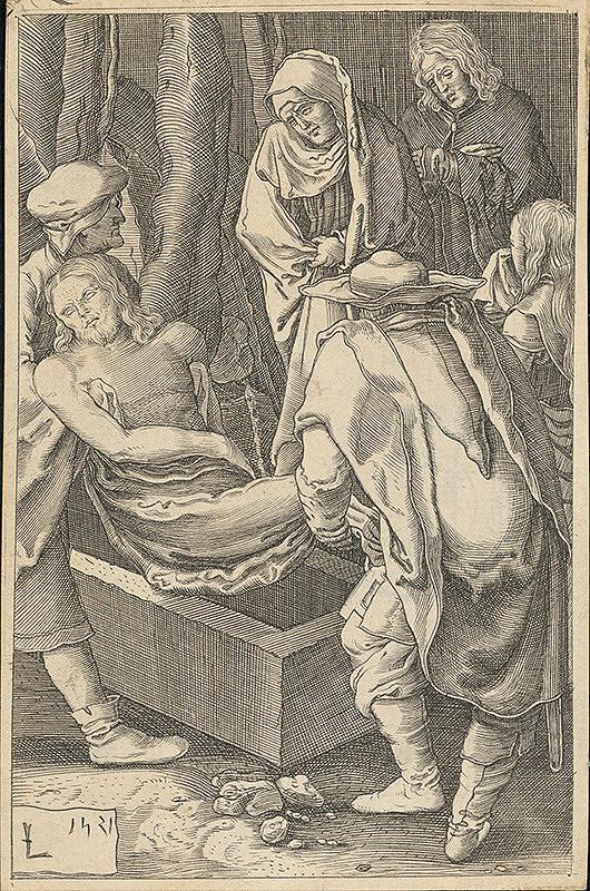 Lucas van Leyden, Harmen Jansz Muller - Ukladanie do hrobu (12)