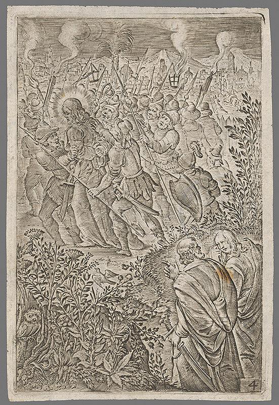 Stredoeurópsky grafik zo 16. storočia - Zajatie Krista