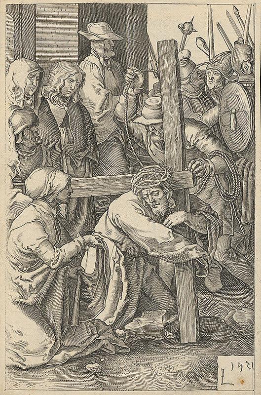 Lucas van Leyden - Nesenie kríža (9)