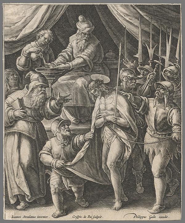 Crispyn de Passe, Jan van der Straet - Pilát si umýva ruky