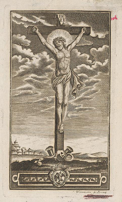 Stredoeurópsky grafik z 18. storočia – Kristus na kríži