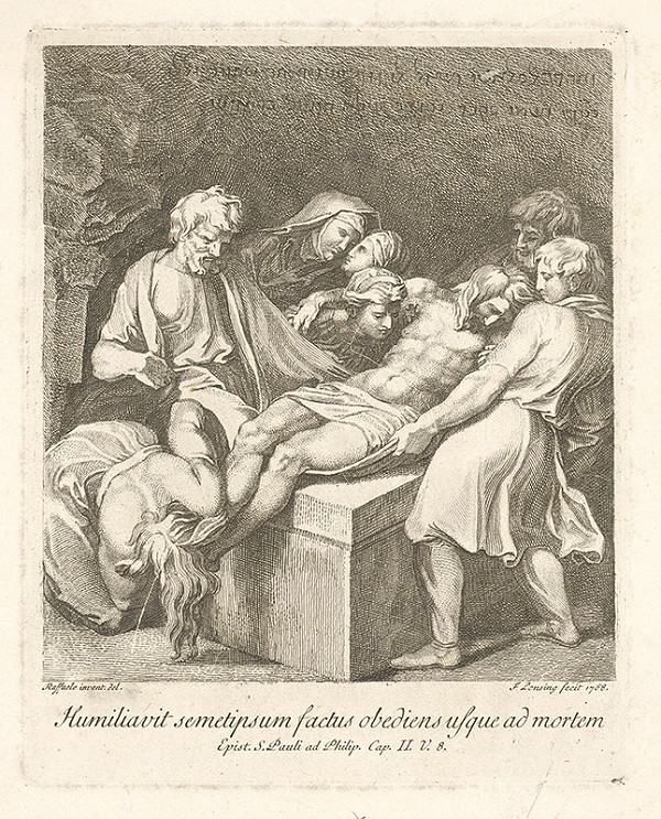 Franz Josef Lonsing, Raffael – Pochovávanie Krista