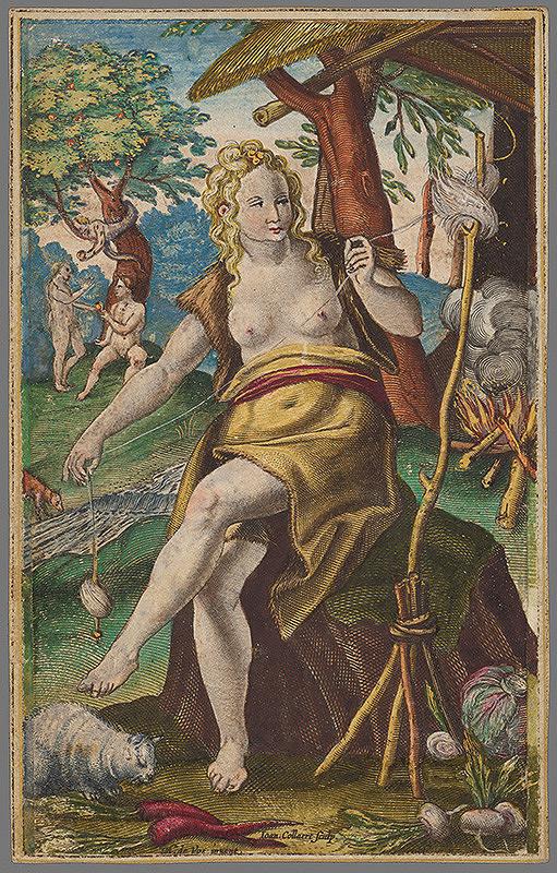Maarten de Vos, Hans Collaert - Eva v raji (1)