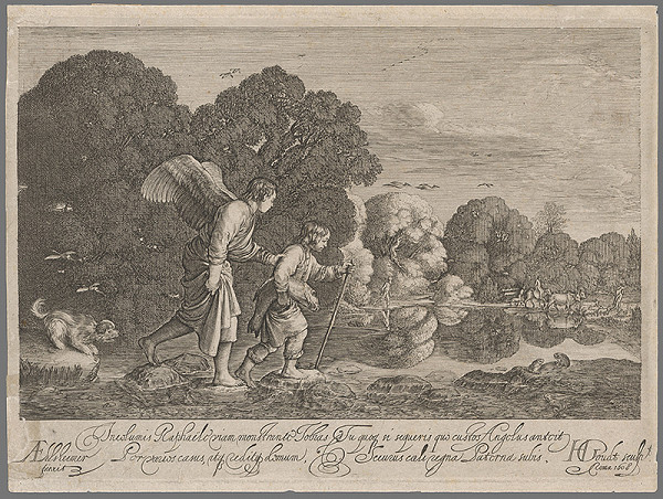Hendrick Goudt, Adam Elsheimer – Tobiáš a anjel