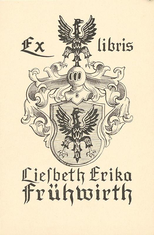 Karol Frech – Ex libris Liesbeth Erika Frühwirth
