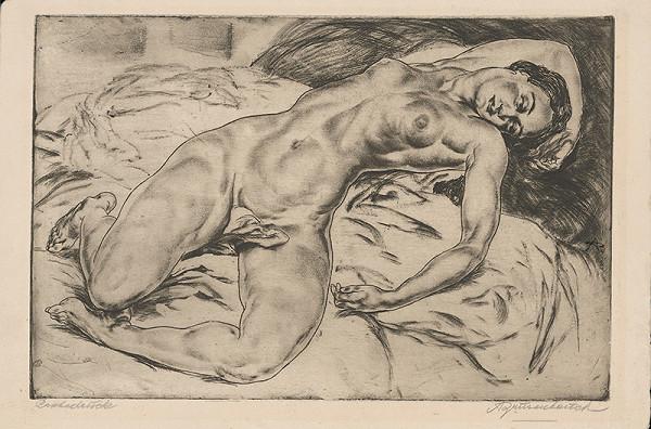 Stredoeurópsky grafik z 1. polovice 20. storočia – Ženský akt