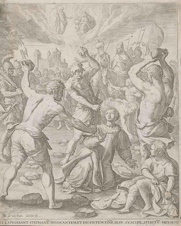 Maarten de Vos st., Jan Sadeler I. - Ukameňovanie sv. Štefana