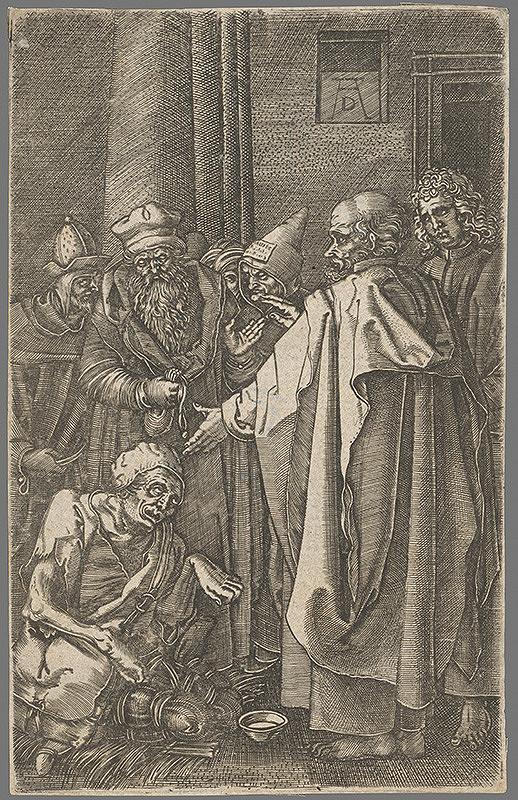 Albrecht Dürer – Peter uzdravuje chromého
