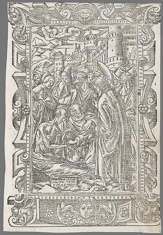 Stredoeurópsky grafik zo 16. storočia - Vzkriesenie Lazara