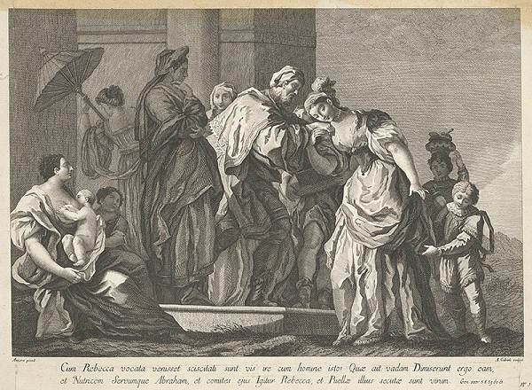 Amadeo Gabrielli, Jacopo Amigoni – Rebeka a služobník Abrahámov