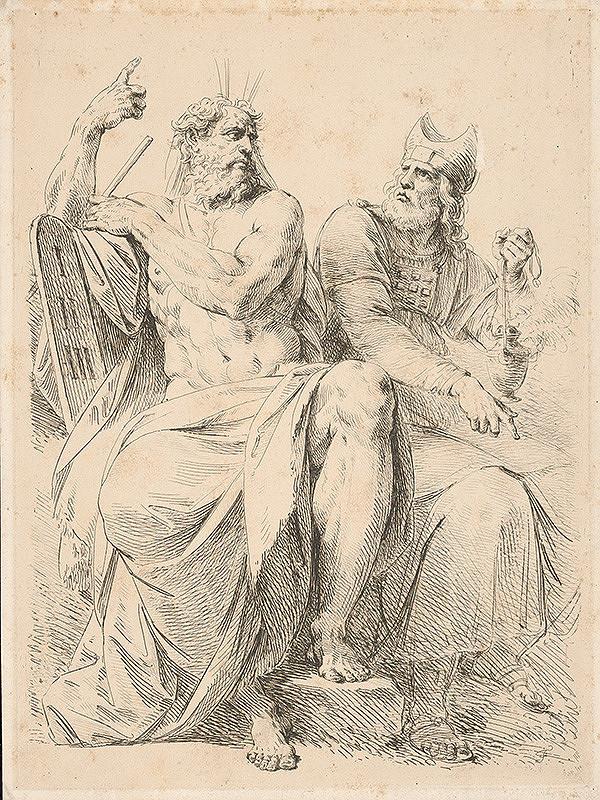 Stredoeurópsky grafik z 1. polovice 19. storočia – Mojžiš a Áron
