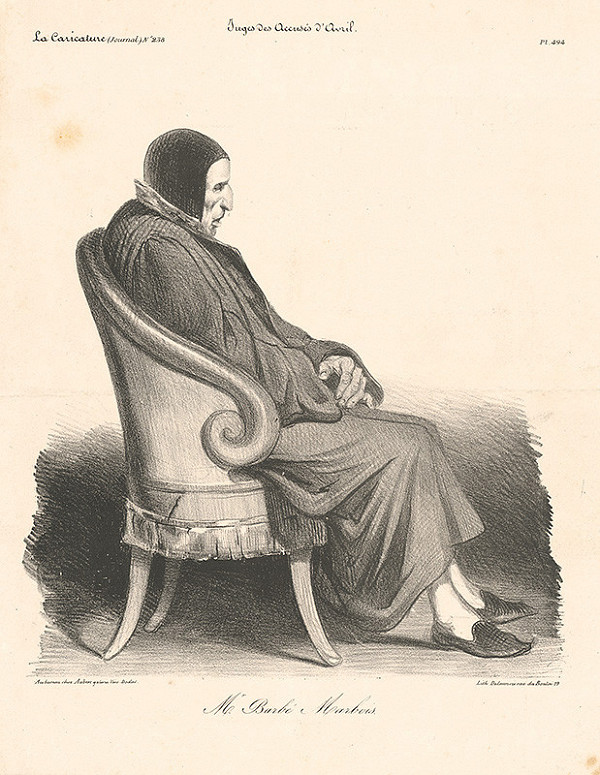 Nicolas Louis Delaunois – Karikatúra pána Marboisa