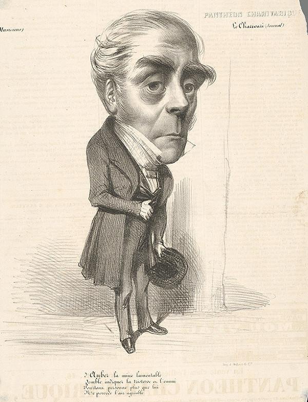 Francúzsky grafik z polovice 19. storočia - Karikatúra hudobníka