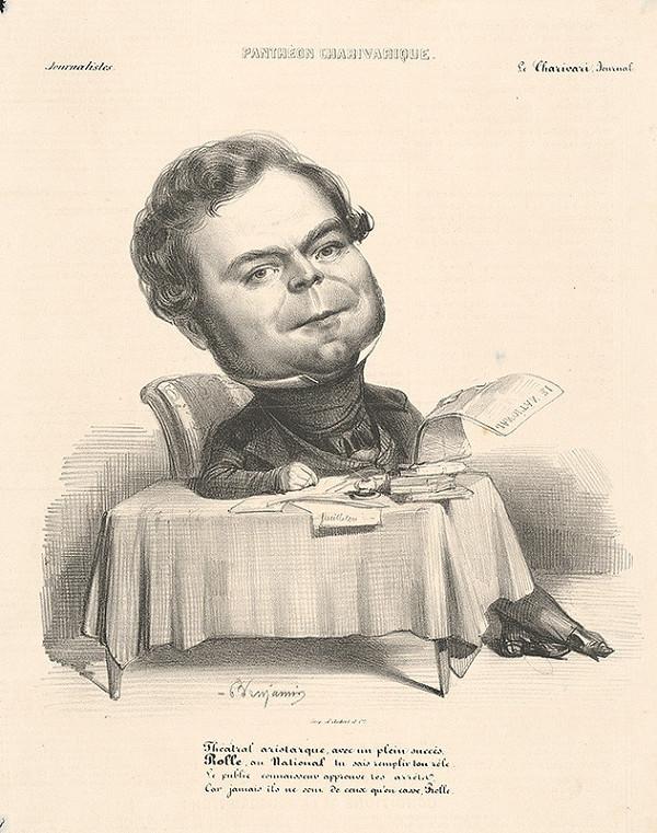 Francúzsky grafik z polovice 19. storočia - Karikatúra novinára II.