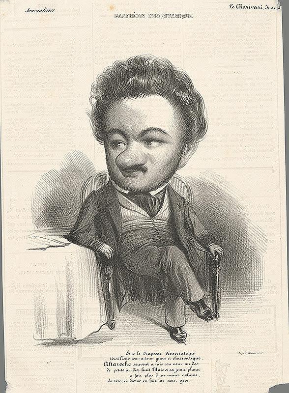Francúzsky grafik z polovice 19. storočia - Karikatúra novinára