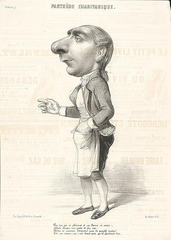 Francúzsky grafik z polovice 19. storočia - Herec