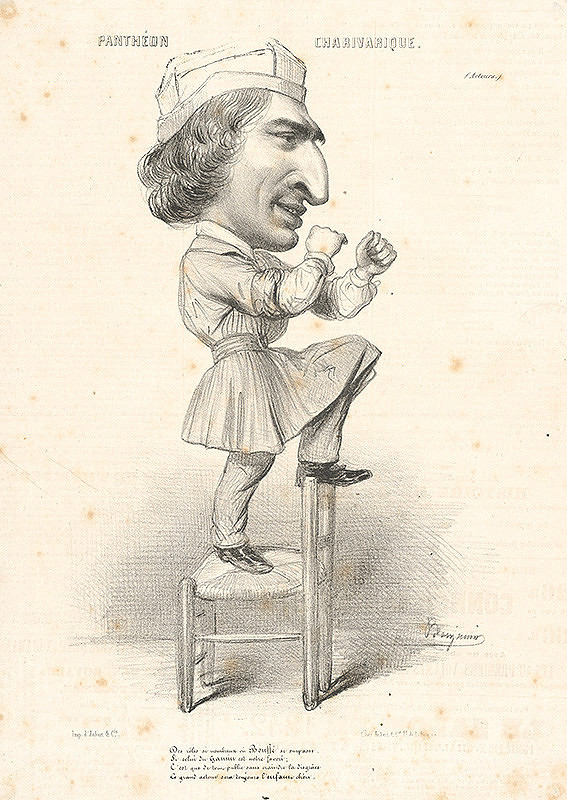 Francúzsky grafik z polovice 19. storočia - Karikatúra herca