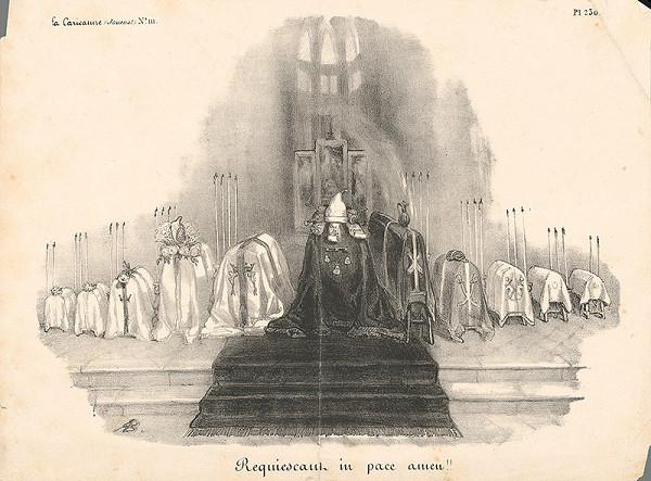 Francúzsky grafik z polovice 19. storočia – Requiem