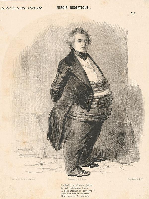 Francúzsky grafik z polovice 19. storočia – Žartovné zrkadlo
