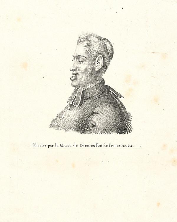 Francúzsky grafik z polovice 19. storočia – Portrét muža