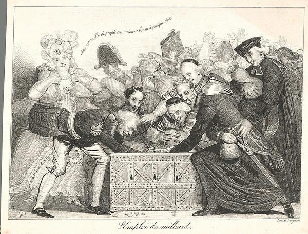 Francúzsky grafik z polovice 19. storočia – Užitie miliardy