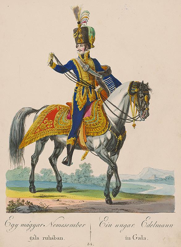 Stredoeurópsky grafik z 19. storočia - Maďarský šľachtic