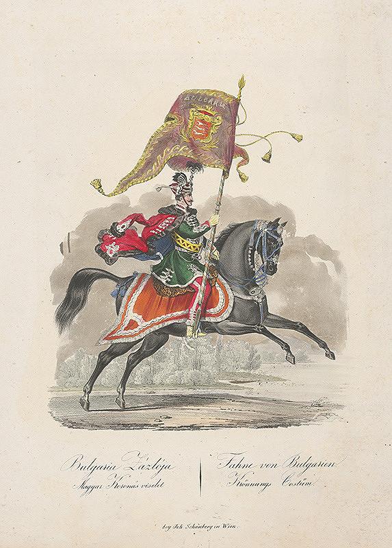Stredoeurópsky grafik z 19. storočia – Bulharský korunovačný kostým